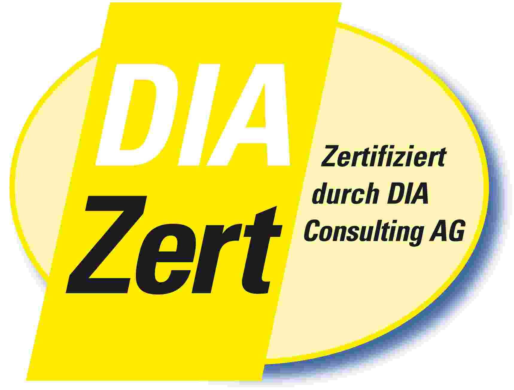 Zertifizierung Wertermittlung DIA Zert.-Nr. DIA-IB-156